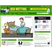 Bed wetting niche website