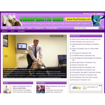 Chiropractic care niche website