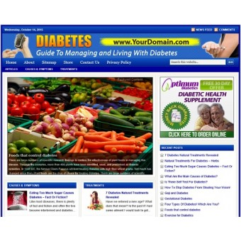 Diabetes niche website